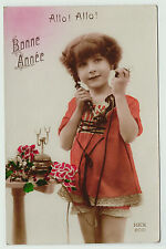 SUPER LOT of  11 Postcards - French Girl Telephone Real Photos RPPC 1920s
