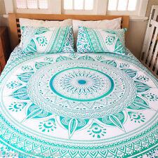 Indian Cotton Ombre Mandala Twin Size Bed Quilt Duvet Doona Cover Dorm Blanket