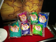 MINT McDonalds Ty BEANIE BABIES SEALED  6 RETIRED SEALED  ANIMALS CHILDREN
