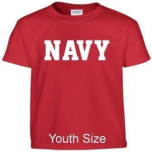 US NAVY Kids Boys Girls T Shirt Child Children YOUTH FIT Tee T Shirt