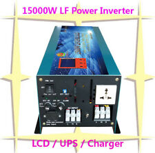 """60000W/15000W LF Pure Sine Wave Power Inverter 24VDC/110VAC 3.5""""LCD/UPS/Charger"""