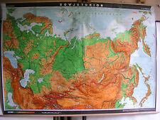 Scheda crocifissi MURO CARTA MAPPA UNIONE SOVIETICA RUSSIA carta 228x162cm 1981 4mio