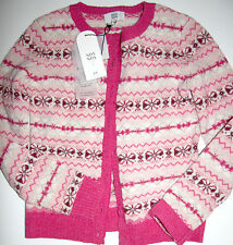 Noa Noa Strickjacke Cardigan Motif   Knit Wine  size: S   Neu