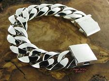 PANZERARMBAND Bracelet Silberarmband 24MM PANZER Massiv Silber 925 22,5cm 151gr.