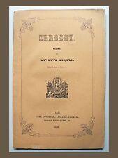 GERBERT Poème par Antonin Roques 1850 PAPE DE L'AN MILLE Auvergne AURILLAC