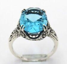 Anelli di lusso di pietra principale acquamarina Misura anello 15