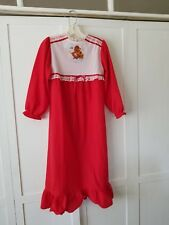1980's Vintage Bates - Jama Red & White Nightgown Size 12