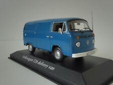 Modellino Volkswagen T2 Delivery Van 1972 Blu Minichamps