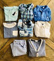 8 Items Boy 12 M Blue Lot: Janie and jack, H&M, Gap, Izod, Mayoral- Mix N Match