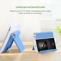 Multi Angle Mobile Phone Tablet Stand Holder Samsung Galaxy Apple iPhone - Blue