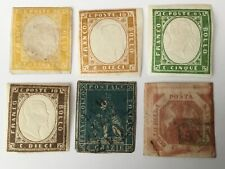 old stamps  ITALY STATES   x 6