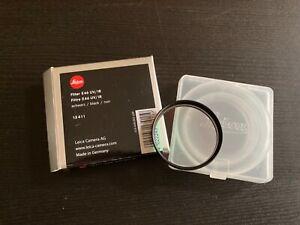 Leica Filter E 46 UV/IR, 13411, für Leica M8 und M8.2, schwarz, OVP
