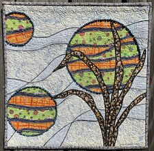 """Moon Series"" art quilt wall hanging"