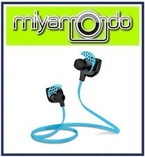 Wireless Bluetooth Earphone Headset Blue for Sport Athlete