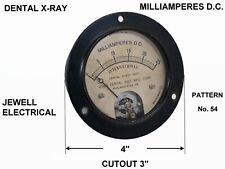 Vintage International Dental X Ray Unit 0 To 25 Milliamperes Dc Meter Jewell