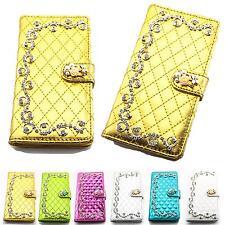 Strass Glitzer Handy Tasche Schutz Hülle Flip Cover Style Case Bling Design K920