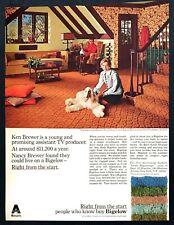 1969 Ken Nancy Brewer Afghan Hound Dog on Bigelow Carpet photo vintage print ad