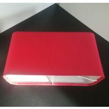 Stoffschirm für Tischleuchte rot Oval 27x14,3x9 E14 Linus Lampen Schirm Schirme