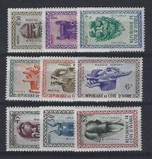 COTE D'IVOIRE n° 181/189 neuf sans charnière