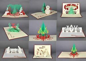 Pop Up Cards 3D Handmade Easter Christmas Joy Greeting Cards