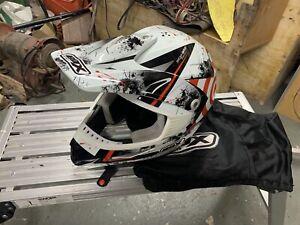 Box MX-5 Target Motorcycle Motocross Helmet Red White XL