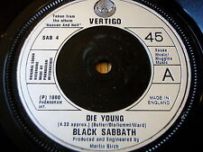 "Black Sabbath-Die Young 7"" Vinilo"