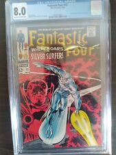 Fantastic Four #72 CGC 8.0 OW/WP Classic Silver Surfer Cover Kirby Marvel (1968)