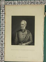 C1830 Antico Stampa ~ Maggiore Generale Sir Henry Havelock