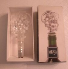 New listing Mikasa Fruit Collection Wine Bottle Stopper Austrian Crystal - Grapes