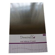 5 x A4 hojas de Premium Alto Brillo Espejo De Plata Tarjeta Dovecraft
