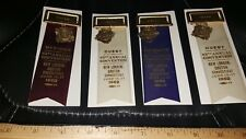 LOT OF 4 VINTAGE PINBACKS MEDALS VFW VETERANS FOREIGN WARS NEW OLD STOCK 1962