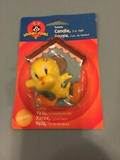 Vintage LOONEY TUNES TWEETY CAKE CANDLE ~ Birthday Party Supplies Decorations