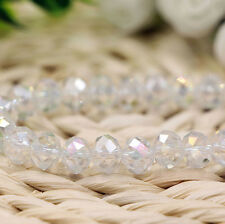 Natural White AB Crystal Gemstone Spacer Loose Beads Jewelry Finding 4/6/8/10mm