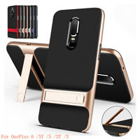 For OnePlus 7 Pro 6T/6 /5T/3 Kickstand Full Cover Hybrid Clear Matte Bumper Case