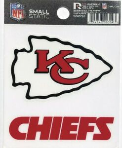 Kansas City Chiefs Small Static-Cling Window Decal Sticker - 3 x 4 - NFL