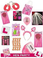 HEN NIGHT DO PARTY ACCESSORIES sashes, balloons, head boppers, photo props etc