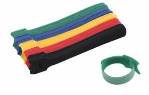 50 Reusable Tie Hook and Loop Fastener Double Side Tape Nylon Wire Organizer Vec