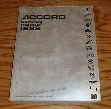 Original 1982 Honda Accord Shop Service Manual 82