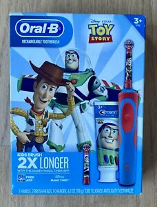 Oral-B Rechargeable Toothbrush Kids Disney Toy Story Gift Pack New w/ charger 3+