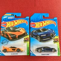 Hot Wheels BUGATTI Chiron + McLaren Senna Forza Edition Set of 2 Cars Brand NEW
