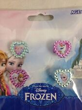Disney Frozen 4 Rings Set Jewellery Gift Present Anna Elsa Olaf Girls Princess