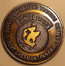 Jungle Expert Operations Training Center Ft Sherman Panama Army Challenge Coin B