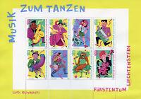 Liechtenstein 2018 MNH Music for Dancing 8v M/S Dance Musical Instruments Stamps