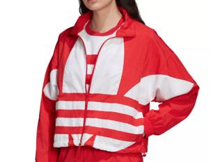 adidas Originals Jacket Womens XL Authentic Larage Logo Woven Track Red White