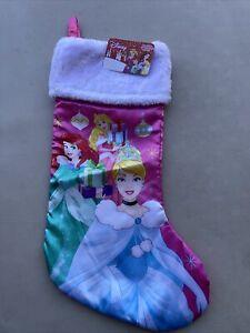 """Disney Princess 18"""" Satin/Plush Christmas Stocking. NET"""