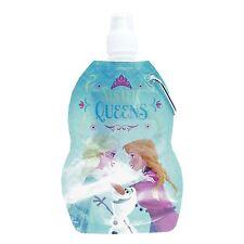 Disney Frozen Faltbar Wasser Trinkflasche mit Karabinerverschluss