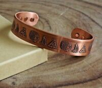 Copper Magnetic Bracelet Arthritis Pain Therapy Energy Cuff Cherokee Nation