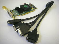 Matrox QID 128MB PCI-E Graphics Card (connect up to 4 monitors) + Cable, Win 7