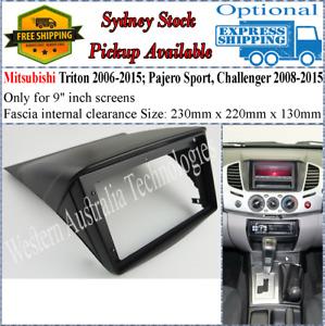 For 9 Nine Inch Screen Fascia facia Fits Mitsubishi Triton Challenger 2006+
