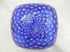 Beautiful  MURANO glass bowl  Schale included air bubbles & silverfoil   11150